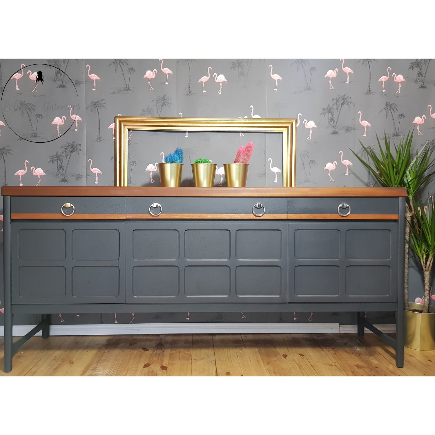 Image of Grey Nathan teak sideboard