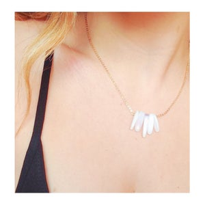 Image of Opalite Drops Necklace - available on sterling silver, gold filled or plated brass chain