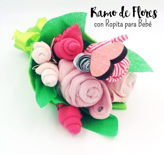 Image of Bouquet of clothes-flowers (1-6 months) for Girl, Boy, Unisex
