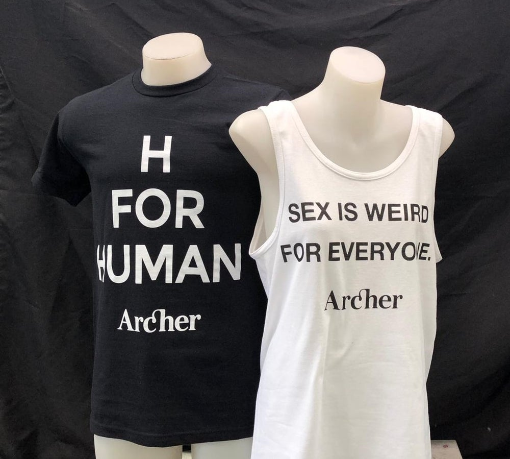 Image of 'SEX IS WEIRD FOR EVERYONE' tank - black OR white