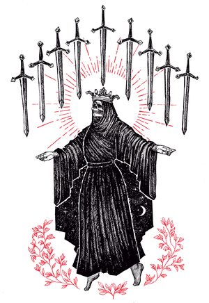 """Image of LIMITED EDITION RUN OF 10, """"Nine of Swords"""", 12""""x18"""""""