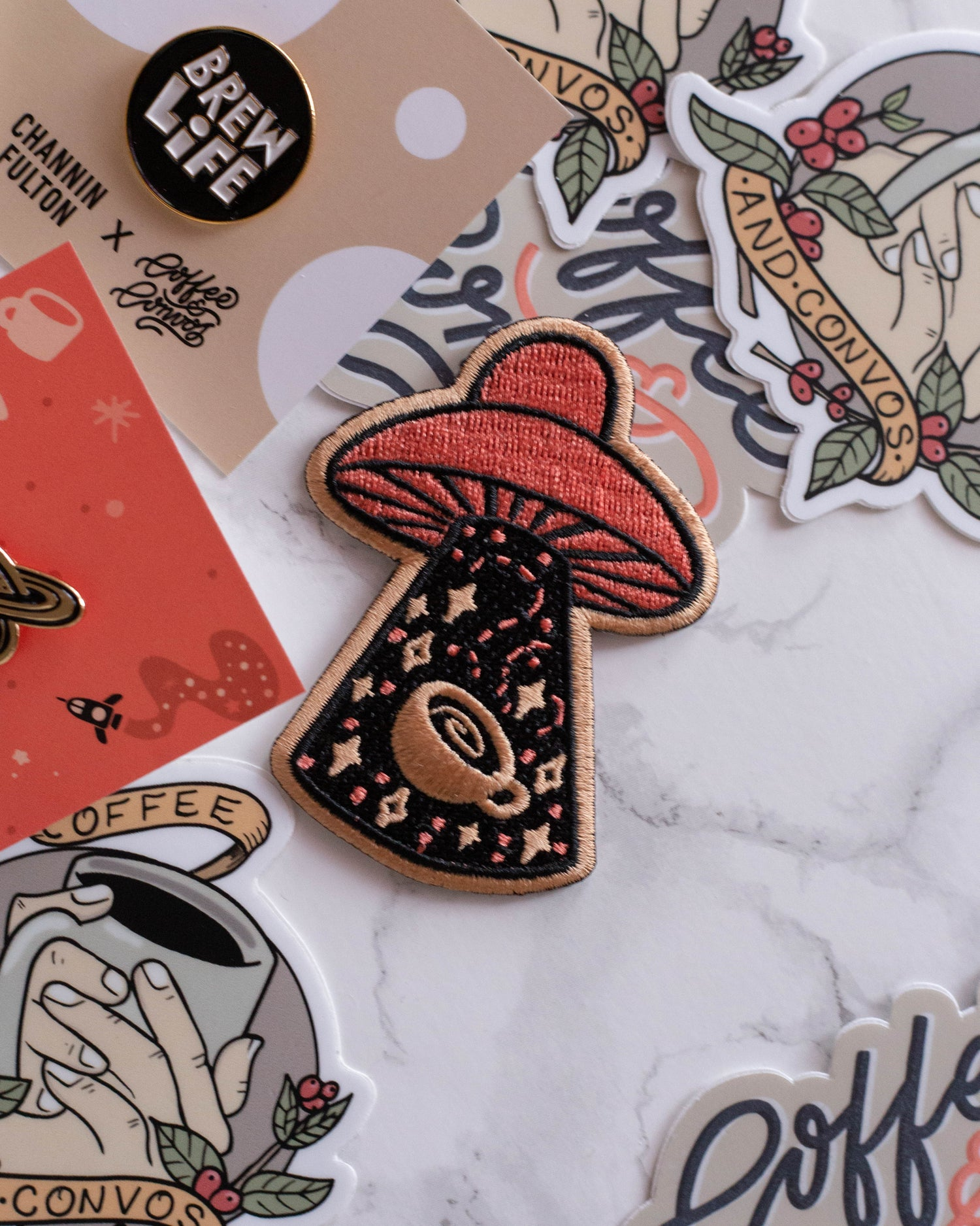 Image of Coffee UFO Patch by CrashBoomDesigns! for C&C