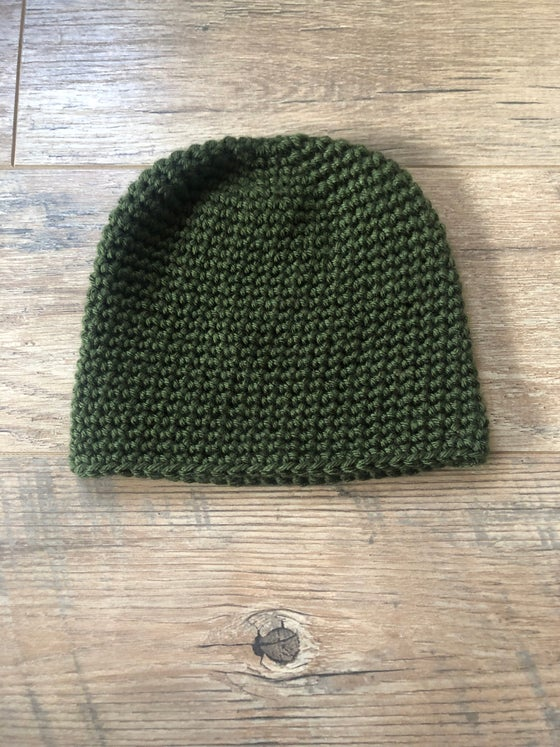 Image of Forrest green classic beanie