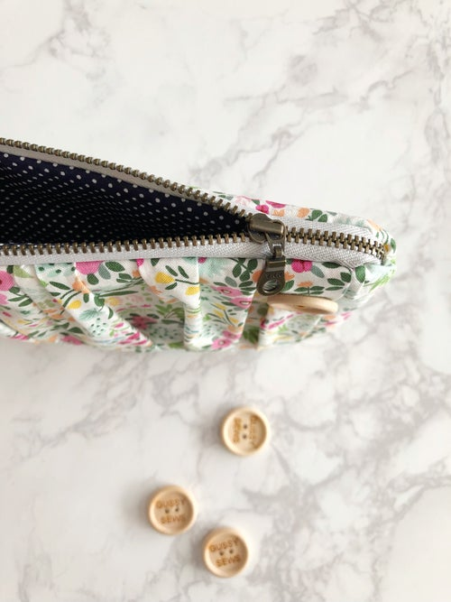 Image of Blush Garden medium zip pouch