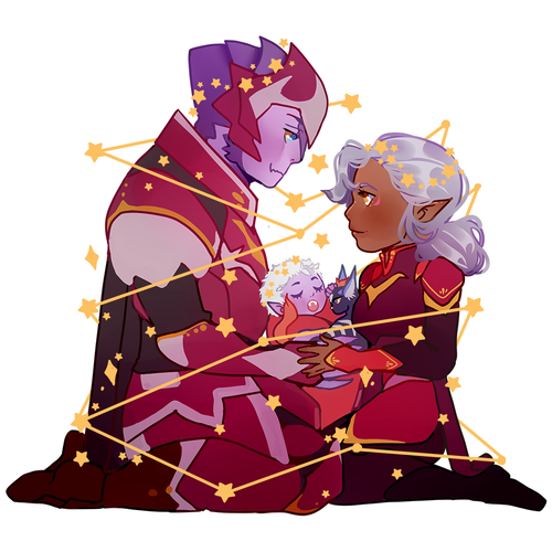 Image of Lotor Family Charm (Holo)