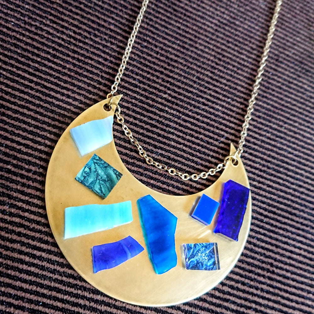Image of Blue Moon Statement Necklace