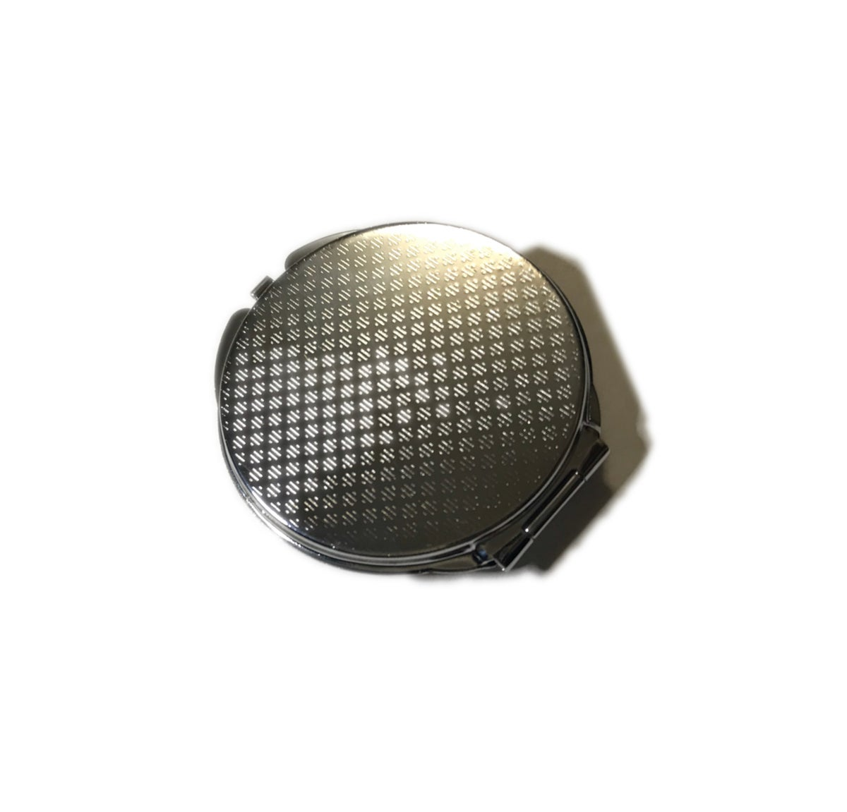 Image of Black Leather Compact Mirror