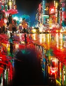 Image of 'Neon Wave' - Original painting on canvas