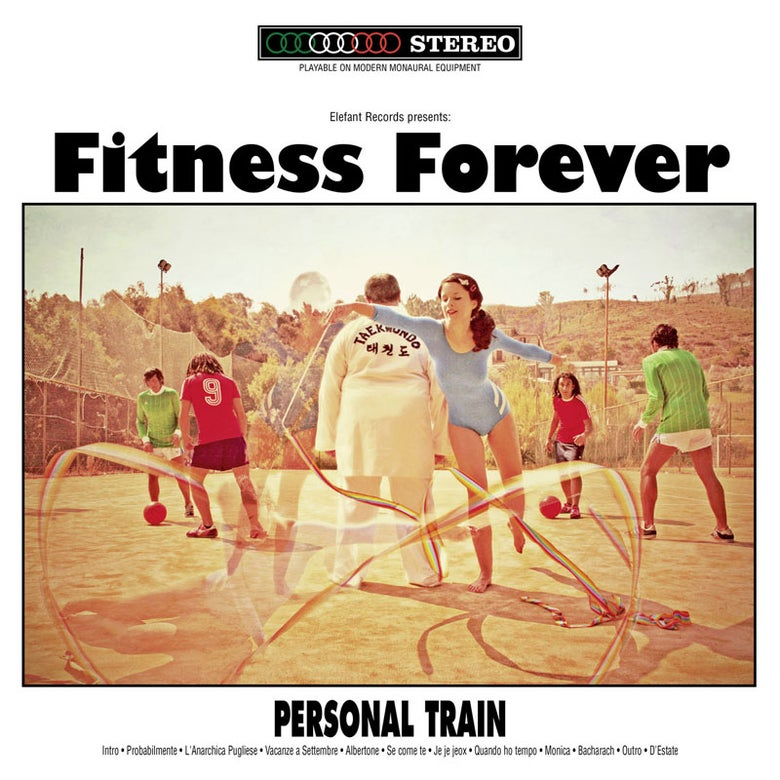 "Image of FITNESS FOREVER Personal Train (Limited Edition Reissue Clear Red 12"" Vinyl LP)"