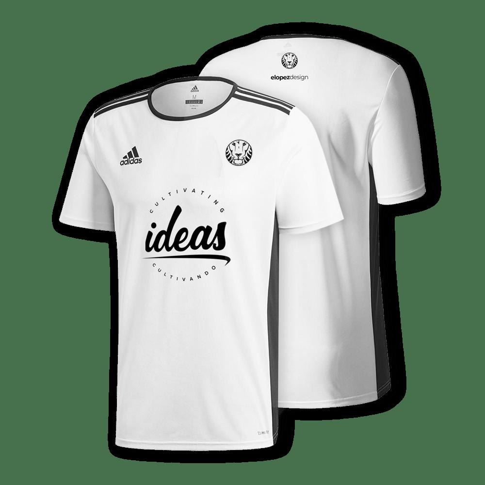 Image of White Adidas Lion Jersey