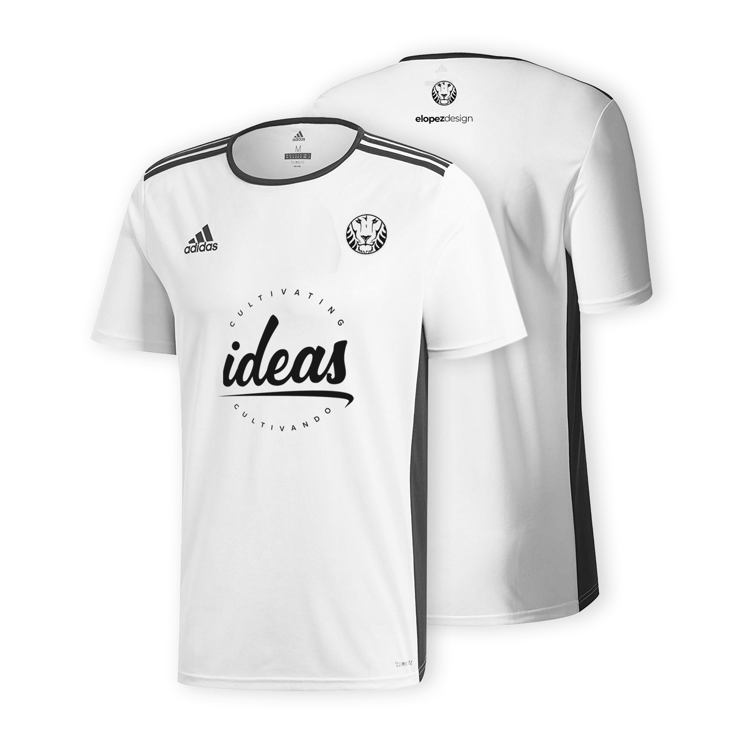Image of White Adidas Lion Jersey
