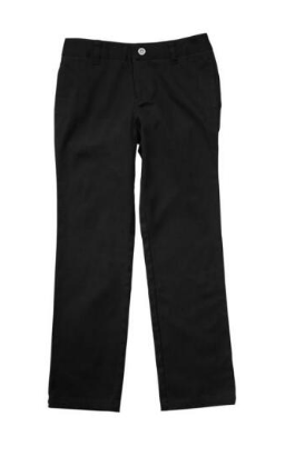 Image of Straight Leg Twill Pant - Black
