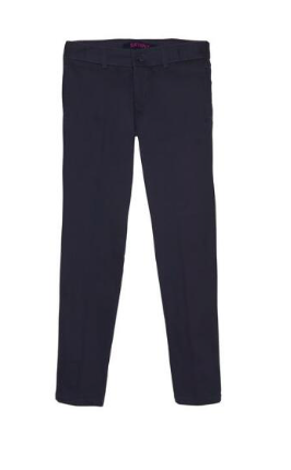 Image of Girls French Toast Straight Leg Twill Pant - Navy