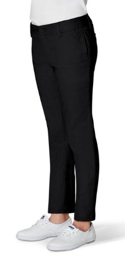 Image of Girls French Toast Skinny Stretch Twill Pant - Black
