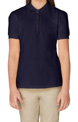 Image of Short Sleeve Stretch Pique Polo - Navy