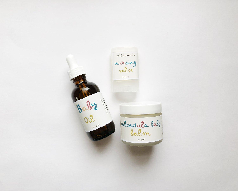 Image of :baby massage oil: lavender + vanilla & mandarin