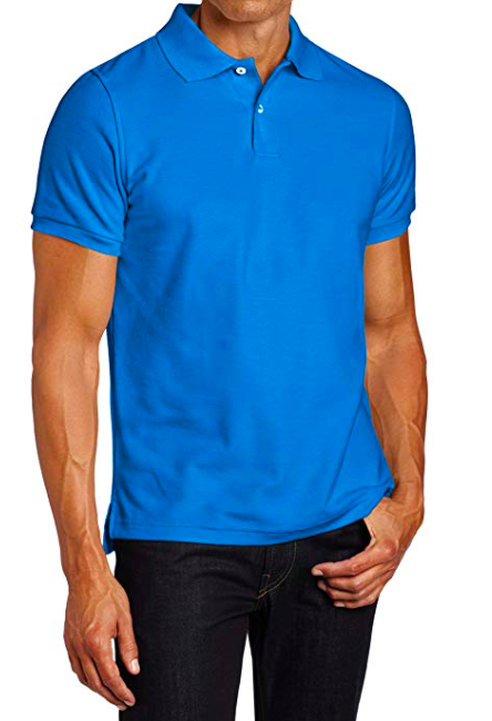 Image of Lee Uniforms Men's Modern Fit Short Sleeve Polo Shirt - Royal