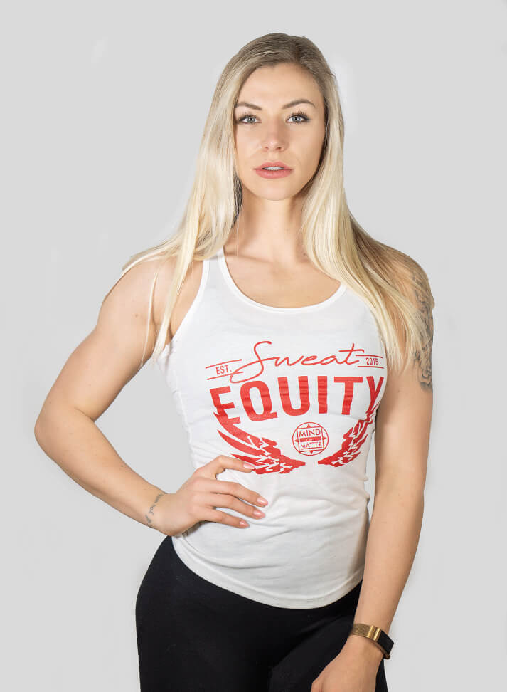Image of SWEAT EQUITY WOMAN TANKTOP | WHITE