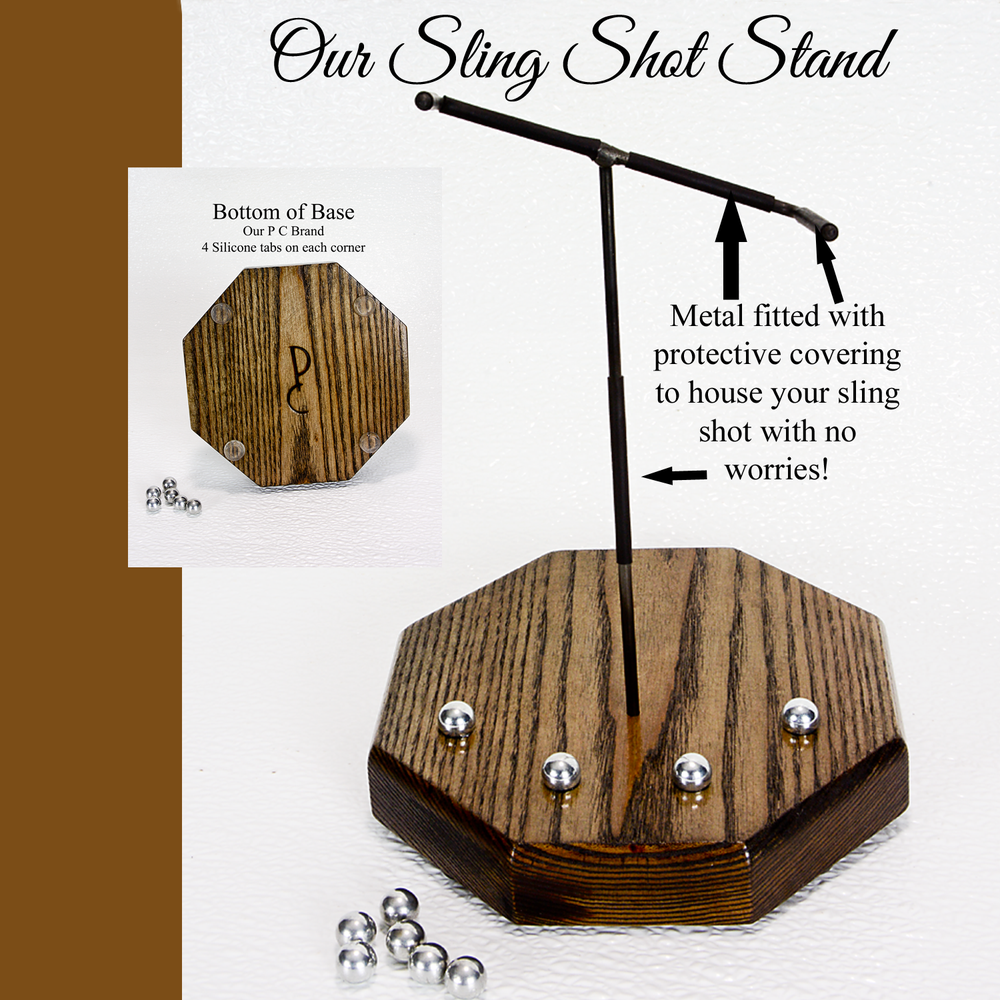 Image of Sling Shot Display Stand, Catapult Wooden Stand, Holder for Sling Shot, Handmade Table Stand