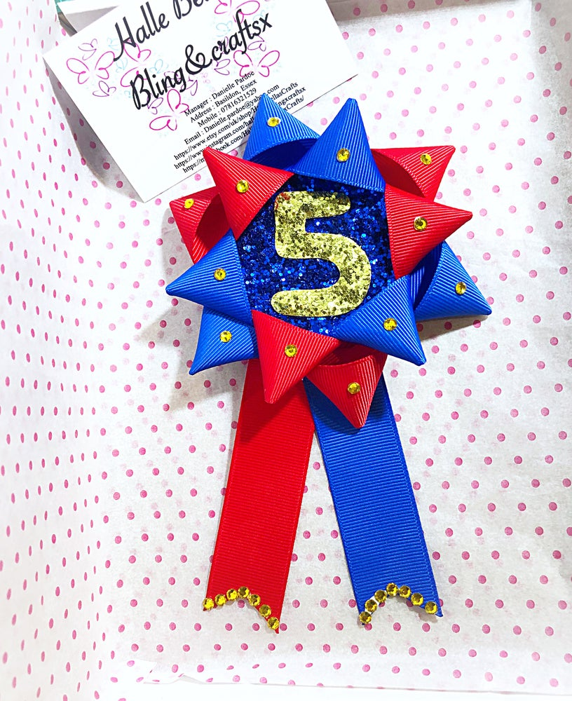 Image of Boys hero birthday badge
