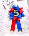 Boys hero birthday badge