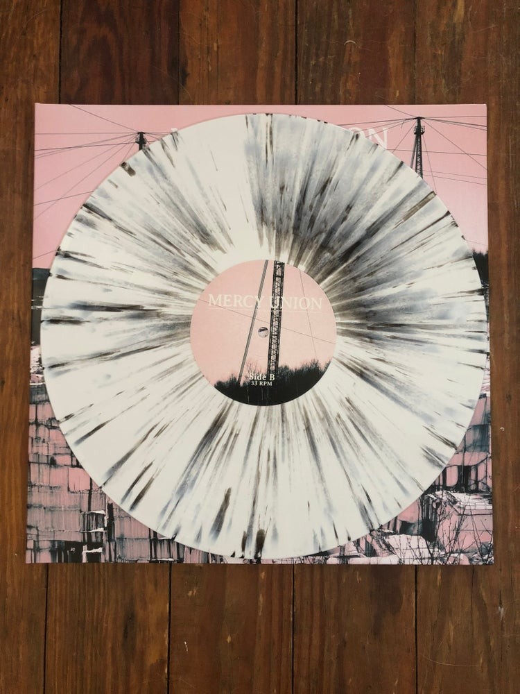 """Image of """"The Quarry"""" White with Black Splatter"""
