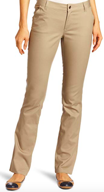 Image of Lee Uniforms Juniors Straight Leg Pant - Khaki