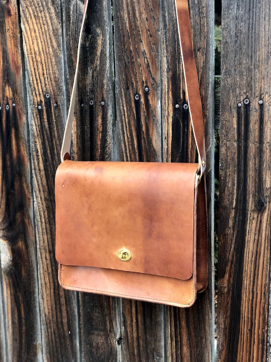 "Image of The ""Malaga"" Bag in Horween Dublin Saddle Tan"