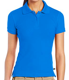 Image of Lee Uniforms Juniors' Stretch Pique Polo Shirt - Royal