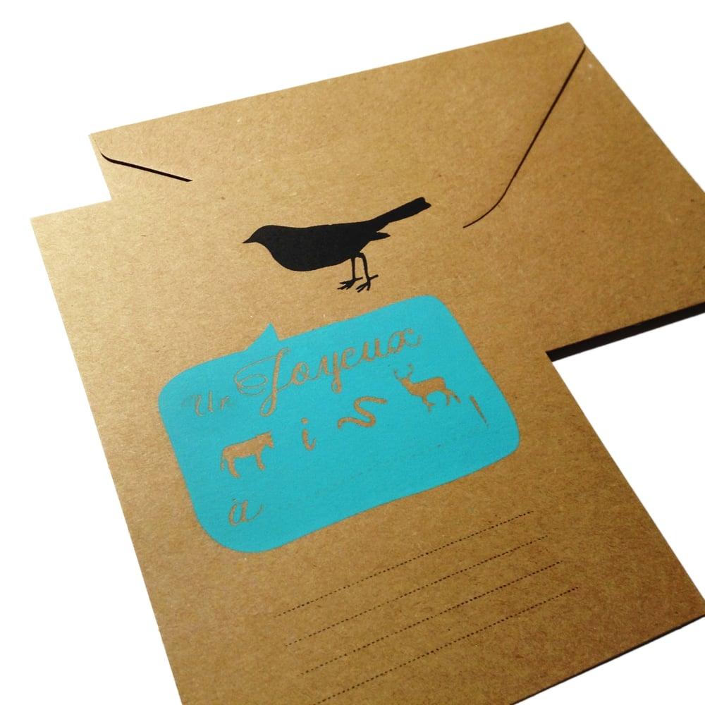 Image of Carte d'anniversaire - Rébus