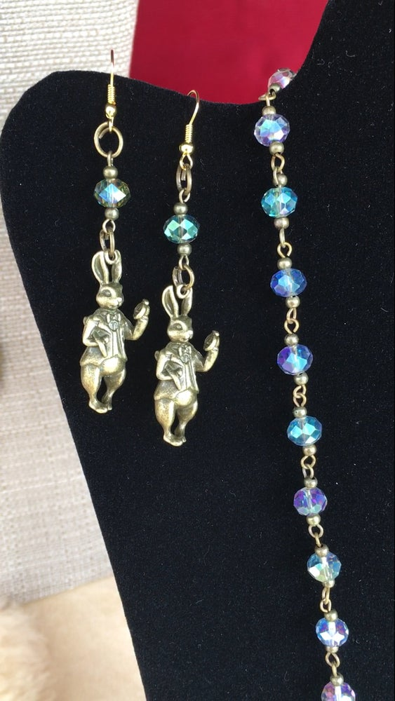 """Image of """"White Rabbit"""" earrings"""