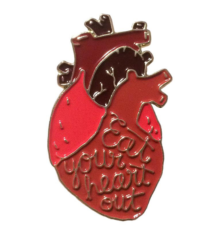 """Image of """"Eat Your Heart Out"""" Pin"""