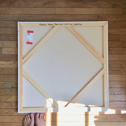 "Image of Hero Beach Club II, 30"" x 30"" painting (framed)"