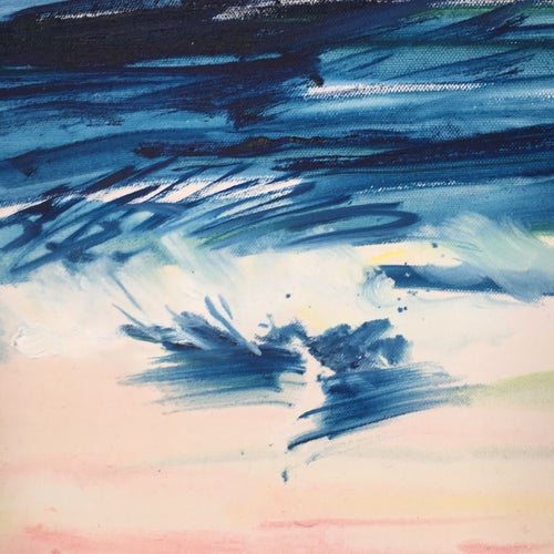 """Image of Big Blue, 30"""" x 40"""" x 2 paintings"""