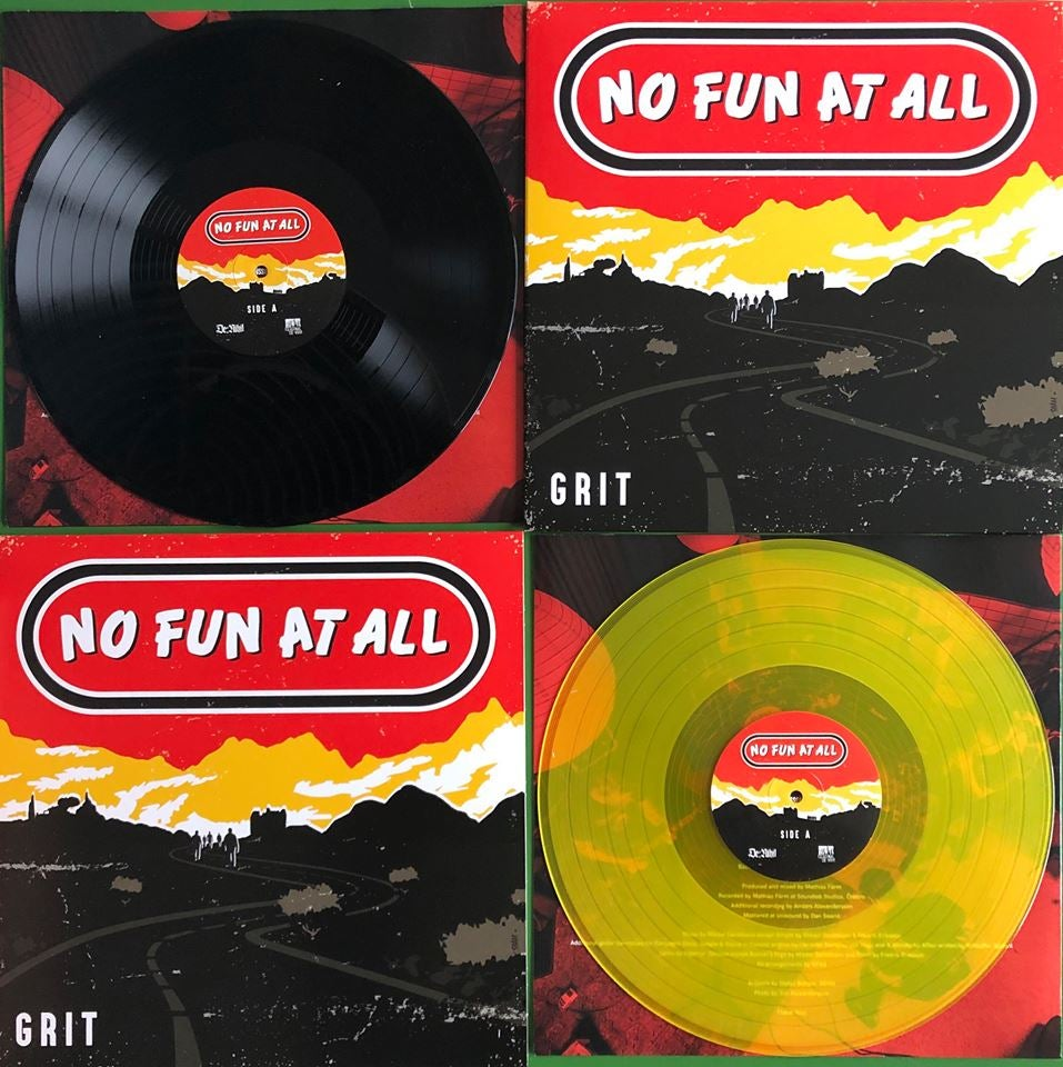 "Image of LADV116 - NO FUN AT ALL ""grit"" LP (European press)"