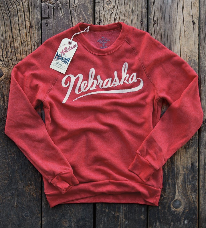 Image of Nebraska Script Sweater | Red