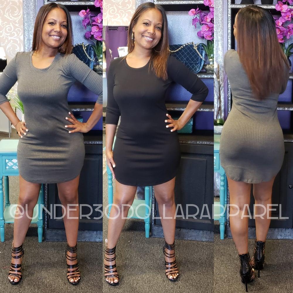 Image of Ribbed TShirt Dress