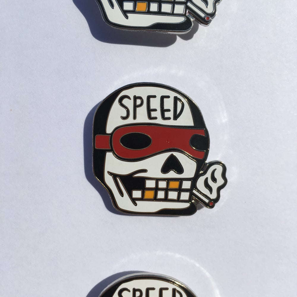 "Image of ""SPEED SKULL"" Pin"