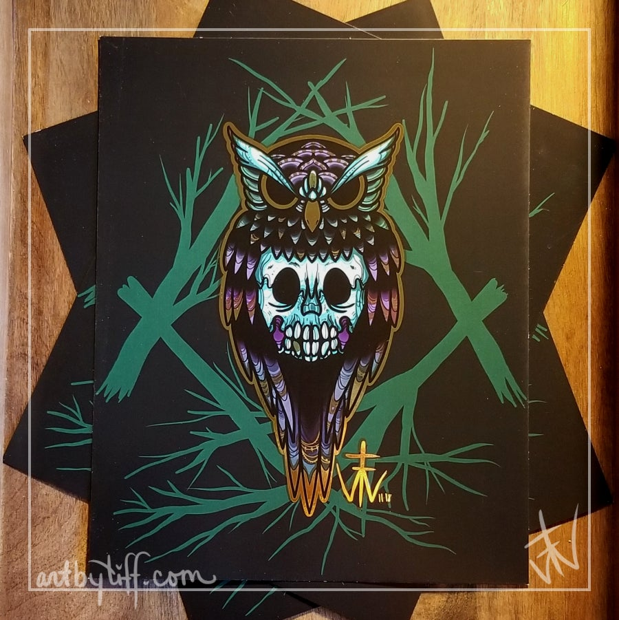Image of Owl Be Damned Print
