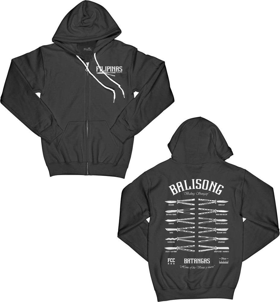 Image of BALISONG ZIPPERED HOODY