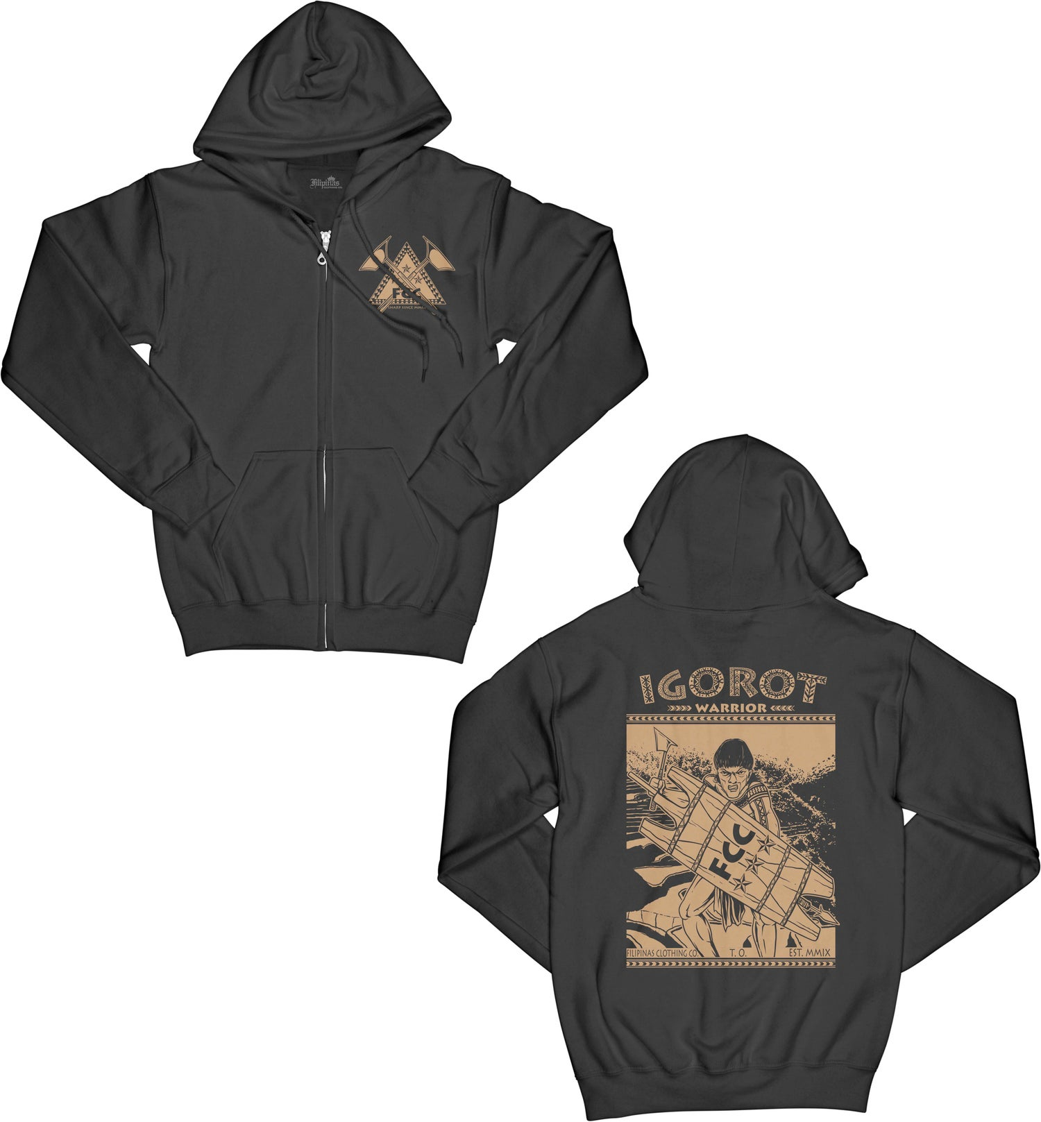 Image of IGOROT WARRIOR ZIPPERED HOODY