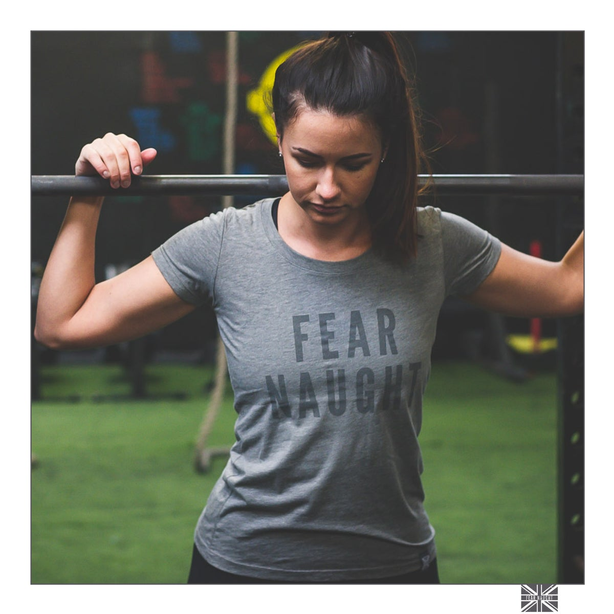 Image of Fear Naught Ladies 'T-Shirt One' Grey