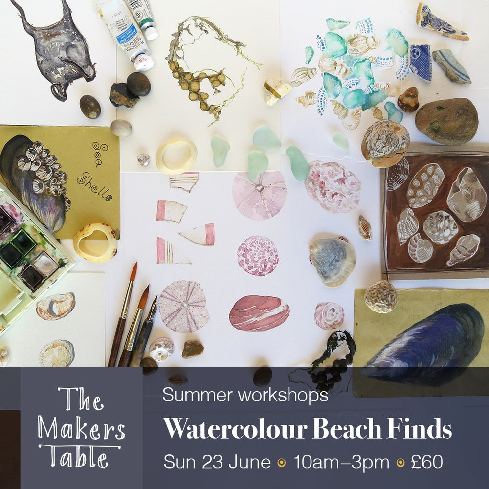 Image of Watercolour Beach Finds Workshop