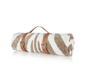 Image of Natural Zebra Hide Beach Towel CLASSIC STRAP