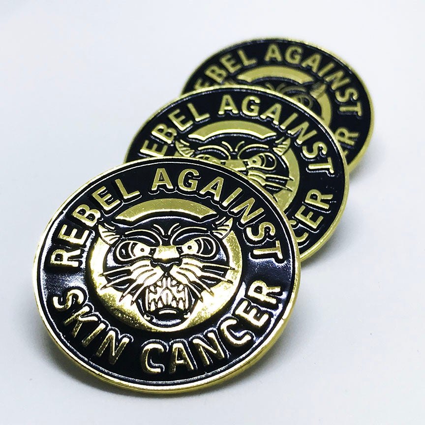 Image of Rebel Against Skin Cancer Pin