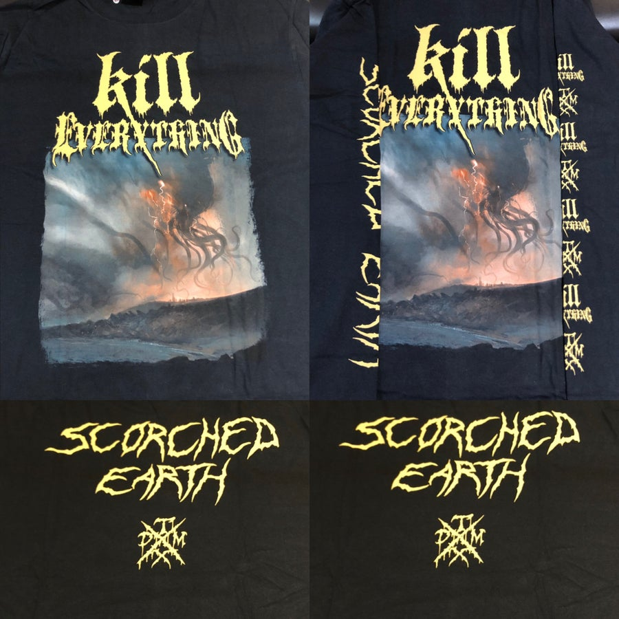 "Image of Officially Licensed Kill Everything ""Scorched Earth"" Album Cover art Short/Long Sleeves Shirts!!"