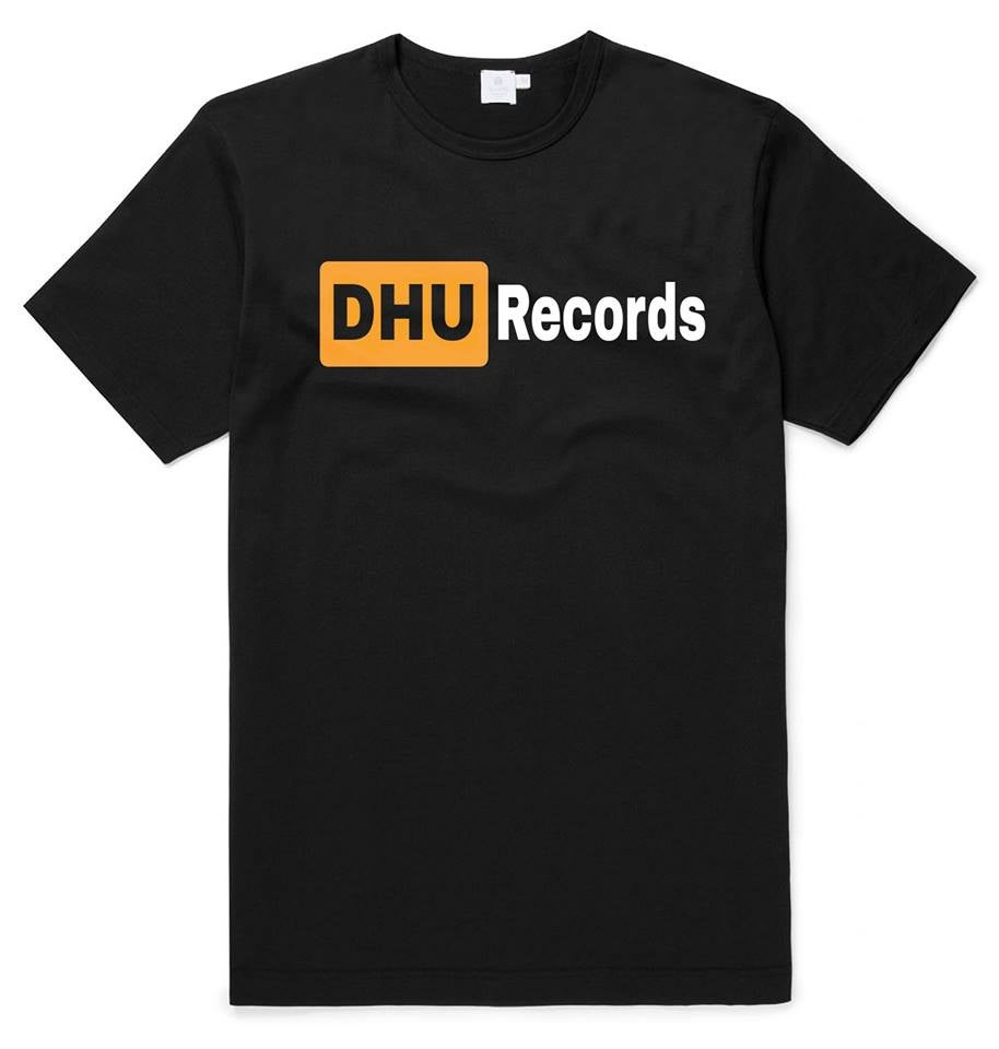 DHU Records Logo/DHU Vinyl porn T-shirt
