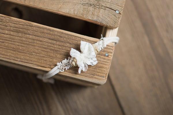 Image of Ivory bow headband