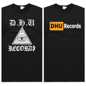 Image of DHU Records Logo/DHU-HUB Vinyl porn T-shirt