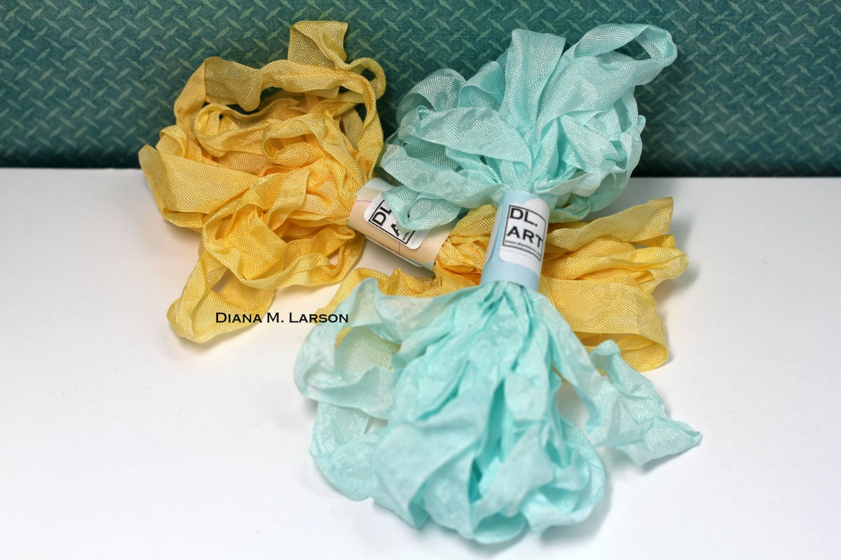 Image of Sunshine & Ocean Crinkle Ribbon